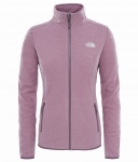 Polar Damski The North Face Glacier FZ black plum stripe