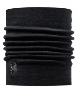 Komin Buff NECKWARMER Merino Wool Heavyweight solid black