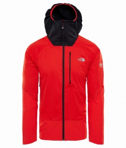 Softshell Męski The North Face L4 Windstopper red/black