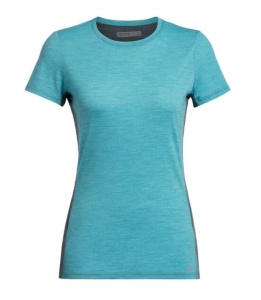 Koszulka Damska Icebreaker Cool-Lite Amplify S/S  arctic teal heather/nightfall heather