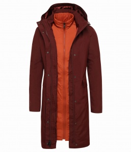 Płaszcz Damski The North Face Suzanne Triclimate™ Trench sequoia red
