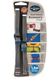 Troki Sea To Summit Accesory Strap With Hook 10 mm yblue 1,5m