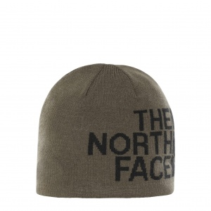 Czapka The North Face Rev Banner Beanie new taupe green/black