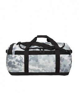 Torba BASE CAMP DUFFEL L white camo print/black