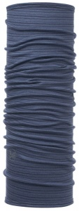 Chusta Buff  MERINO WOOL LIGHT denim stripes