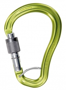 Karabinek Climbing Technology Axis HMS SGL Spring Bar green