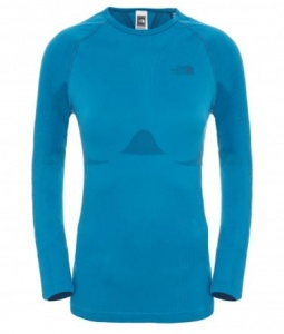 Koszulka Damska The North Face Hybrid LS Crew Neck brilliant blue
