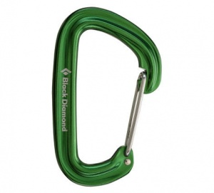 Karabinek Black Diamond Neutrino Wire Gate green