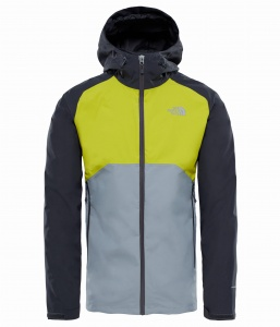 Kurtka Męska The North Face Stratos asphalt grey/citronella yellow/mid grey