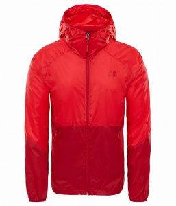 Kurtka Męska The North Face Flyweight Hoodie high risk red/rage red