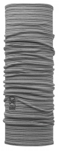 Chusta Buff  MERINO WOOL LIGHT grey stripes