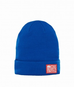 Czapka The North Face Dock Worker Beanie bright cobalt blue/centennial red