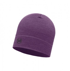 Czapka Buff WOOL HAT MID purple melange