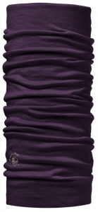 Chusta Buff  MERINO WOOL LIGHT solid plum
