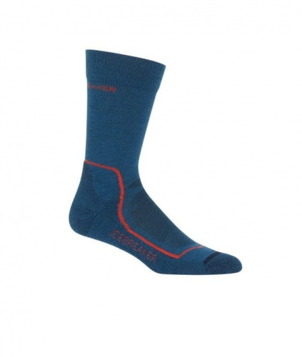 Skarpety Icebreaker HIKE+ LIGHT CREW prussian blue/navy/red L