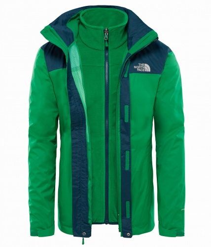 Kurtka Męska The North Face EVOLVE II DryVent Trcm primary green/kodiak blue