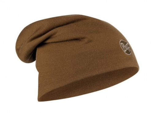 Czapka Buff WOOL HAT HEAVY LOOSE solid tundra khaki