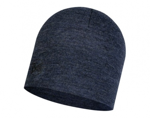 Czapka Buff WOOL HAT MID night blue melange