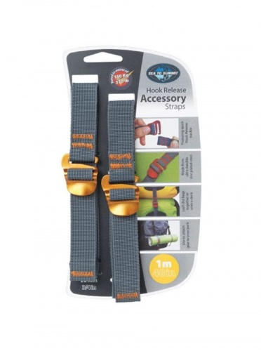Troki Sea To Summit Accesory Strap With Hook 20 mm yellow 1 m