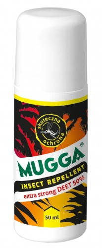 Preparat na owady Mugga Roll-on (repelent) Anti-Mosquito - 50% DEET