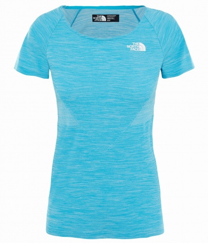 Koszulka Damska The North Face Impendor Seamless Tee meridian blue white heather