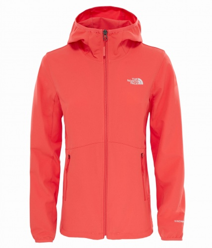 Softshell Damski The North Face Nimble Hoodie cayenne red