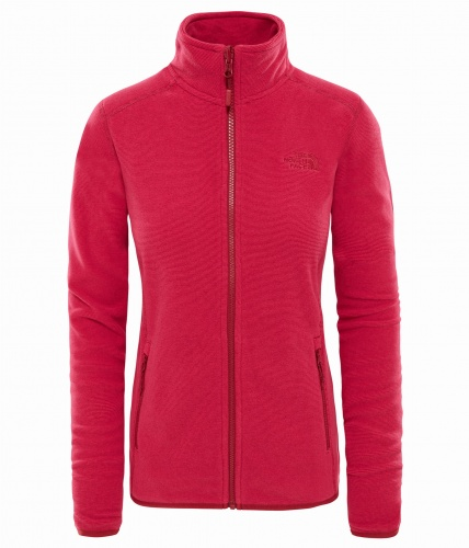 Polar Damski The North Face Glacier FZ rumba red/pink stripe