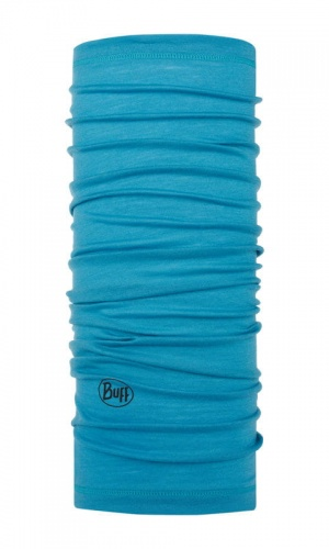 Chusta Buff  MERINO WOOL LIGHT solid scuba blue