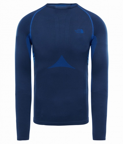 Koszulka Męska The North Face HYBRID L/S Crew Neck cosmic blue