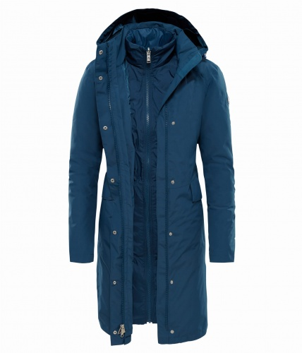 Płaszcz Damski The North Face Suzanne Triclimate™ Trench blue wing teal DRYVENT