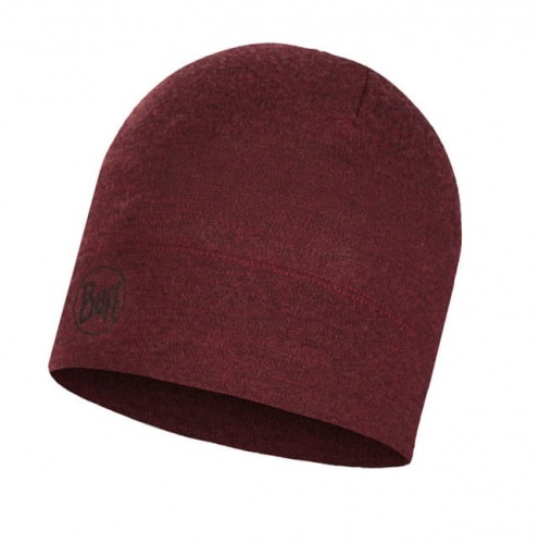 Czapka Buff WOOL HAT MID wine melange