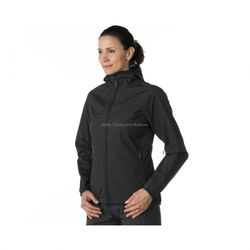 SoftShell Damski Mammut Ultimate Light Hooded graphite