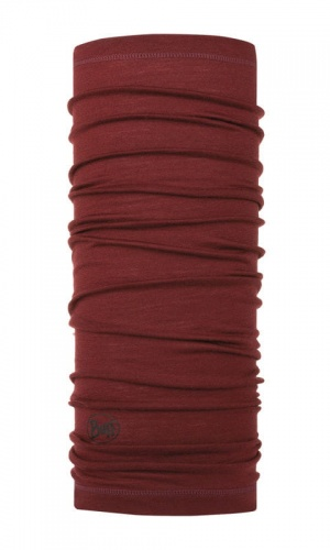 Chusta Buff  MERINO WOOL LIGHT solid wine